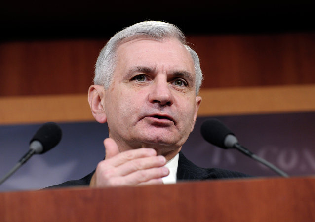 Sen. Jack Reed, D-R.I., speaks during a news conference on unemployment insurance on Capitol Hill in Washington, Thursday, Feb. 6, 2014