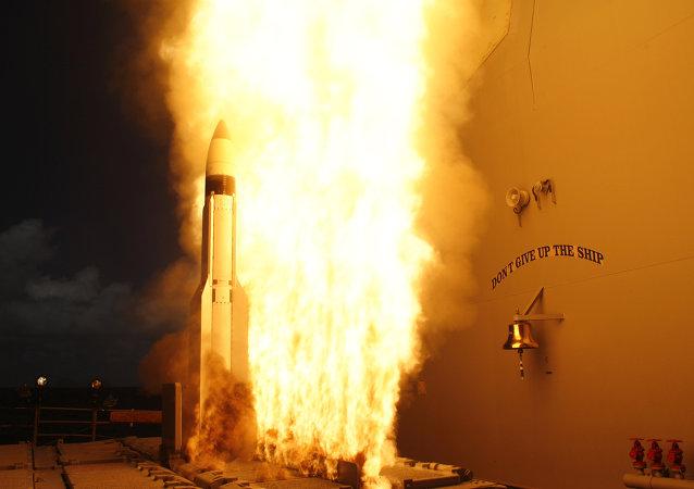 RIM-161 SM-3 launch