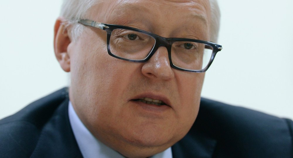 Russian Deputy Foreign Minister Sergei Ryabkov gives interview
