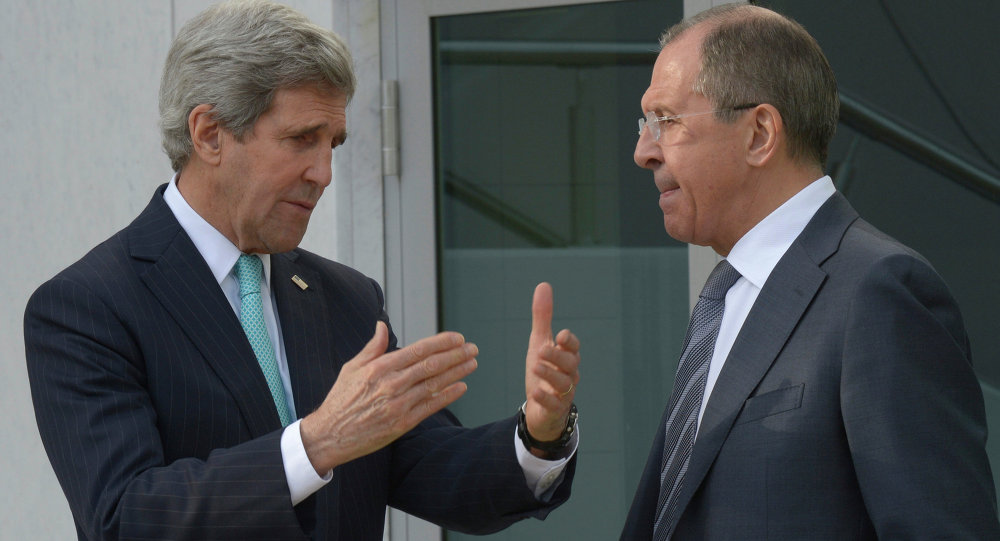 Sergei Lavrov meets with John Kerry in Geneva