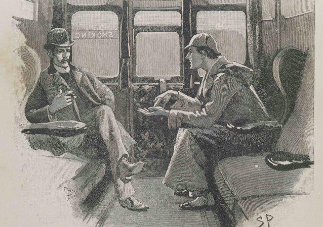 Знаменитые иллюстрации Сидни Пейджета представленные на выставке о Шерлоке Холмсе