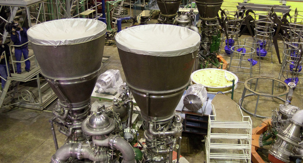 RD-180 rocket engine assembled at Energomash