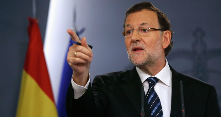 Spanish Prime Minister Mariano Rajoy holds a news conference at Moncloa palace in Madrid November 12, 2014