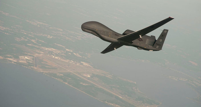 RQ-4 Global Hawk unmanned aerial vehicle conducts tests over Naval Air Station Patuxent River