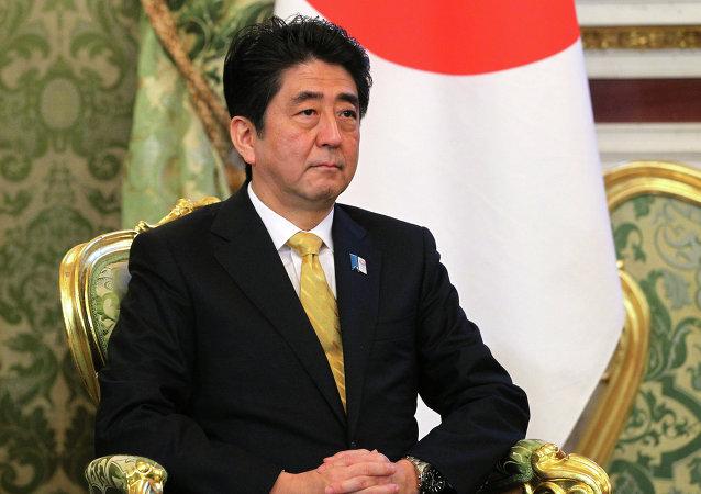 Премьер-министр Японии Синдзо Абэ во время встречи с президентом РФ Владимиром Путиным в Кремле