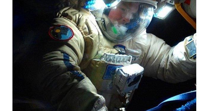 Alexander Samokutyaev during the 40th spacewalk