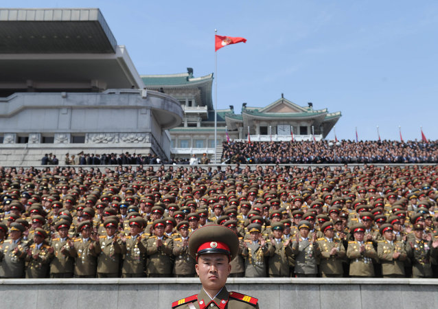 Military parade dedicated to the 100th Birth Anniversary of Kim Il-Sung