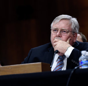 John Tefft of Va., pauses as he testifies before the Senate Foreign Relations Committee on Capitol Hill in Washington, Tuesday, July 29, 2014, to be the new U.S. Ambassador to Russia