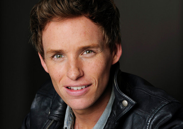 Eddie Redmayne poses for a portrait at the Trump International Hotel
