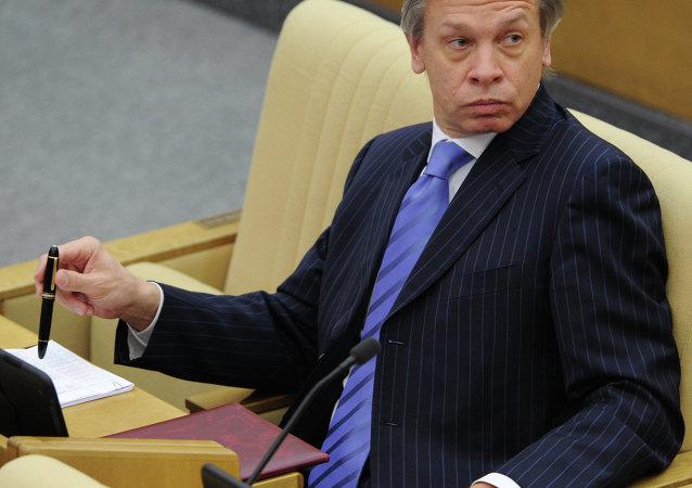 Глава международного комитета Госдумы РФ Алексей Пушков