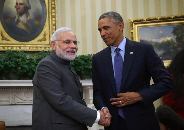 United States President Barack Obama meets with Indian Prime Minister Narendra Modi