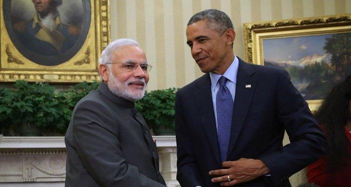 United States President Barack Obama meets with Indian Prime Minister Narendra Modi