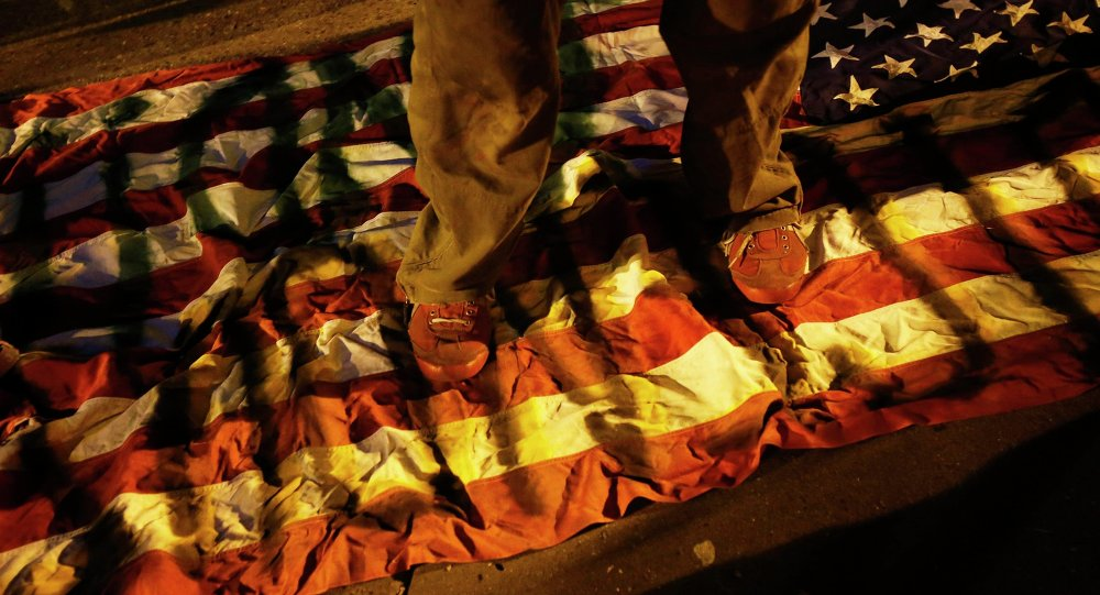 A US flag-burning rally is scheduled to take place in a New York City park on Wednesday evening.