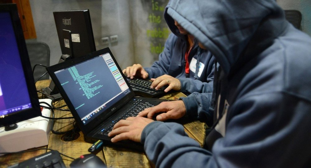Israelis work on computers at the 'CyberGym' training facility in Hadera, Israel