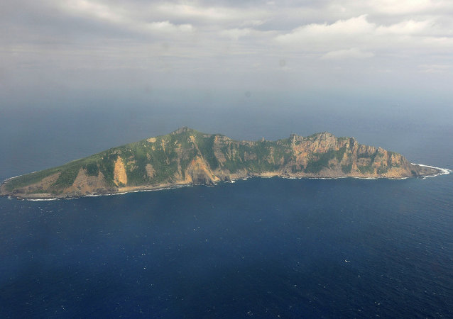 One of the small islands in the East China Sea known as Senkaku in Japanese and Diaoyu in Chinese. (File)