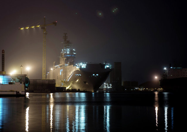 The STX Europe shipyard in Saint-Nazaire