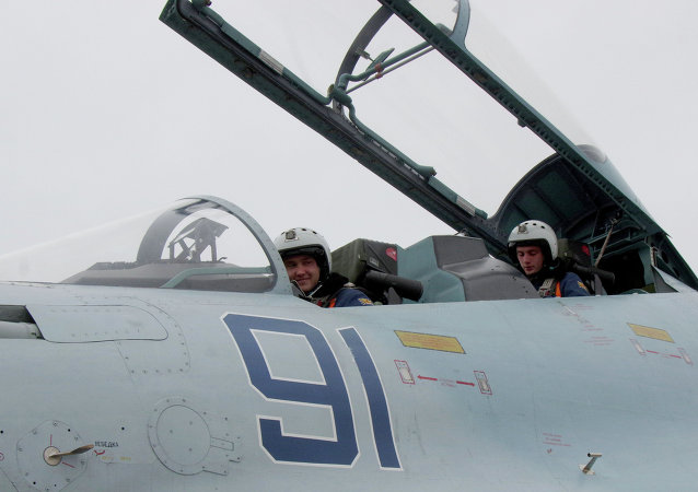 This Sukhoi Su-27 SM Flanker fighter will serve with the 62nd Fighter Regiment of the 27th Combined Air Division of the Russian Air Force at Belbek airfield near Sevastopol.