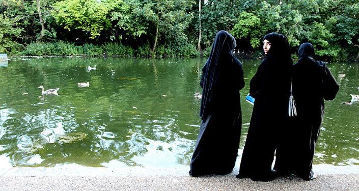 Young Muslim Women in Hyde Park, London