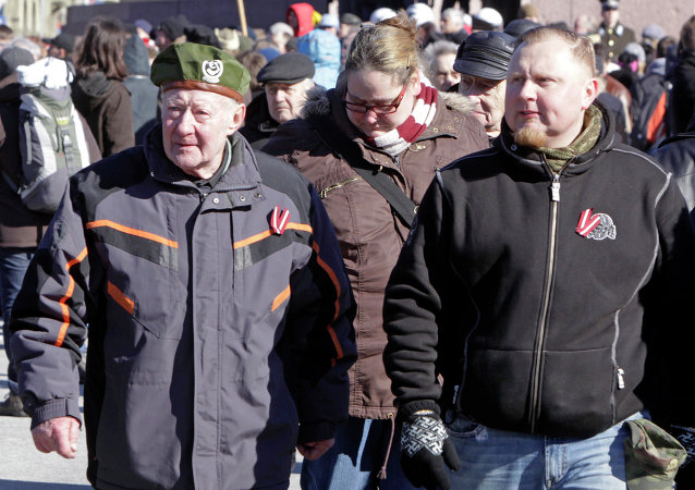 Latvian SS Veterans March