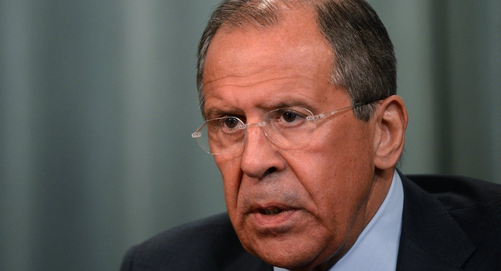 Meeting of Russian and Slovakian Foreign Ministers Sergei Lavrov and Miroslav Lajcak