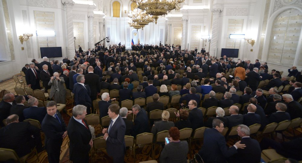Vladimir Putin delivers annual Presidential Address to Federal Assembly