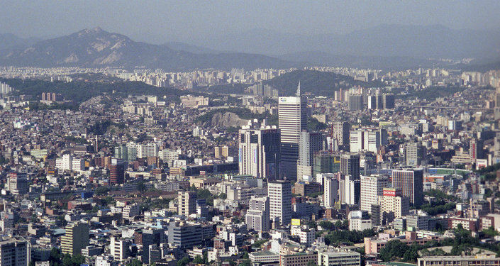 View of Seoul from Namsan mountain