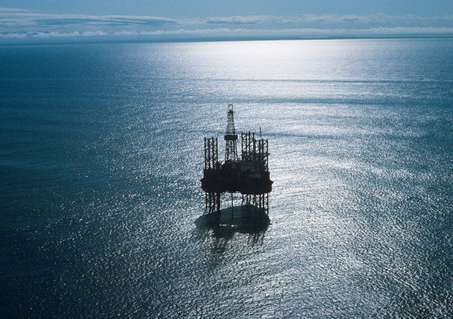 An offshore drilling rig. Archive