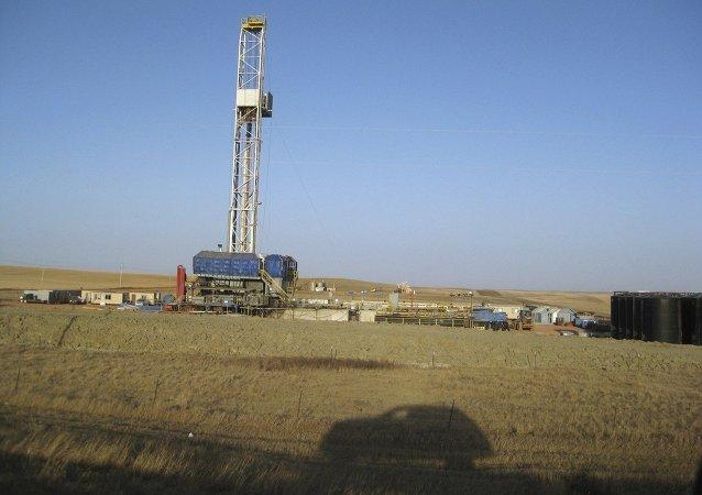 Fracking drill rig