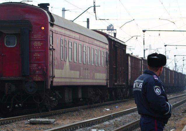 Поезд с обломками малайзийского Боинга в Харьковской области