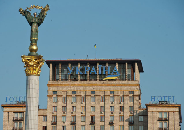Independence Stella on Maidan Nezalezhnosti in Kiev