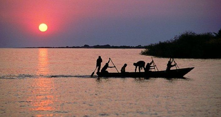 Fisherman on Lake Tanganyika, Mishemba Bay, Zambia.