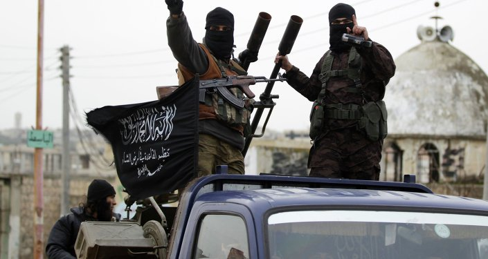 Members of al Qaeda's Nusra Front in the southern countryside of Idlib