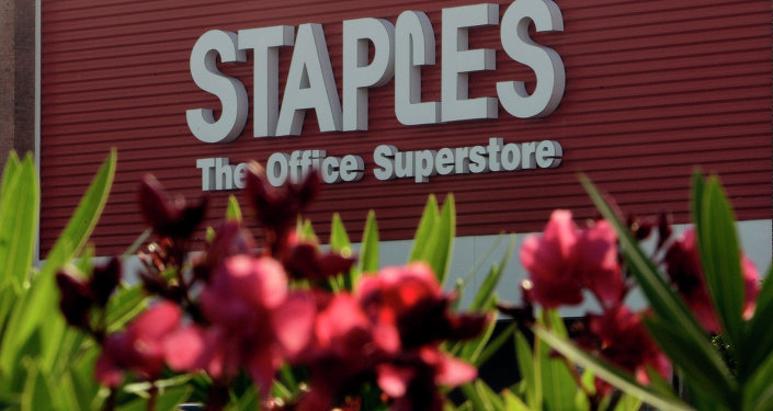 Oleander flowers bloom outside the Staples store