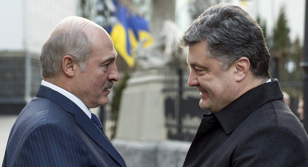 Встреча Сергея Порошенко и Александра Лукашенко