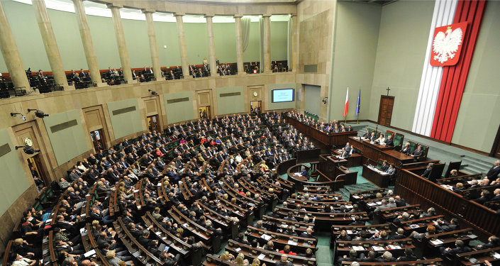 A general view of the Polish parliament