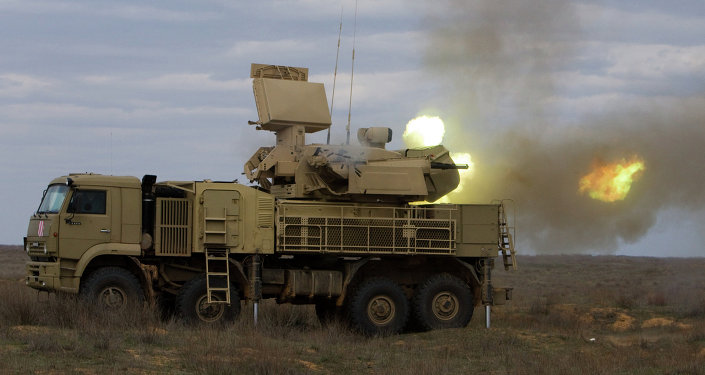 Pantsir-S missile system at work