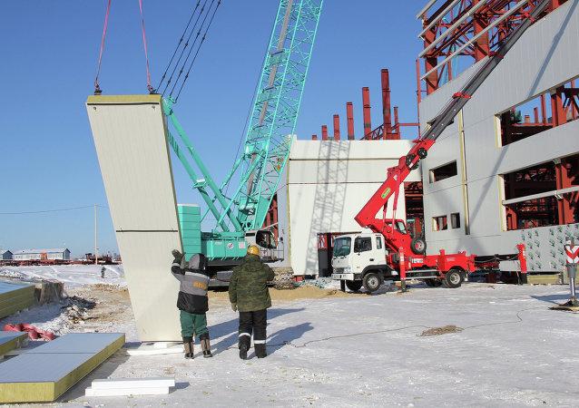 Строительство космодрома Восточный в Приамурье