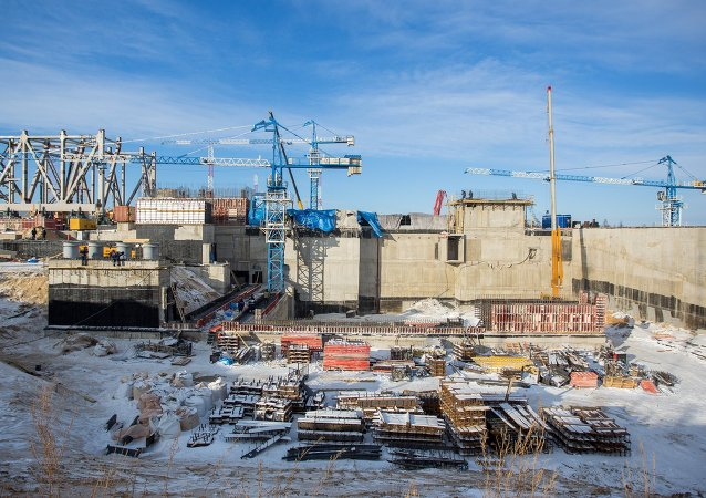 Vostochny Cosmodrome construction site in Amur Region