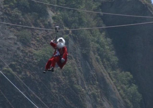 Brazil: Where Santa Takes a Cable Car Down a Mountain to Meet Children