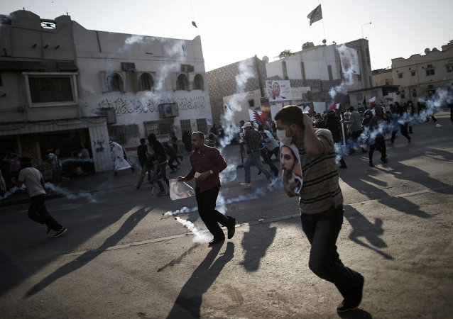 Bahraini protestors