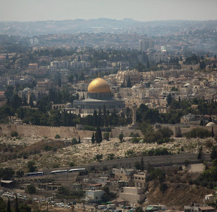 The Dome of the Rock Mosque in the Al Aqsa Mosque compound, known by the Jews as the Temple Mount, is seen in Jerusalem's Old City