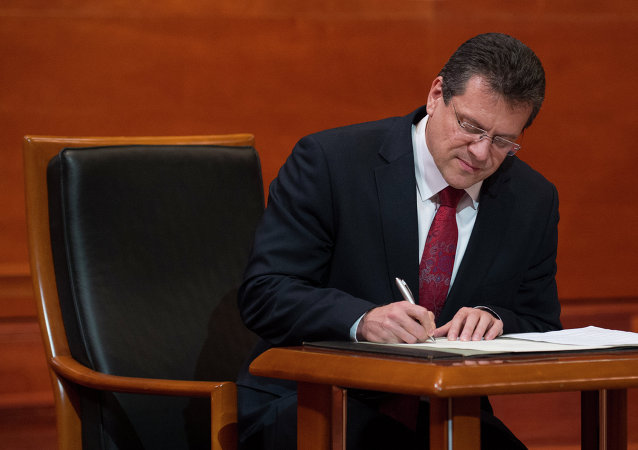 European Commissioner for Energy Union Maros Sefcovic
