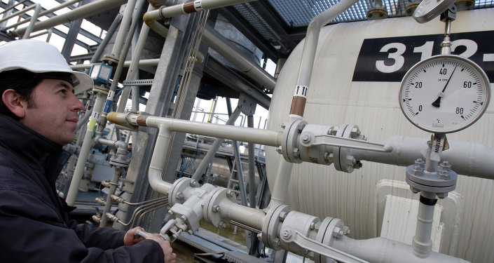 A Turkish technician checks the valves at a natural gas storage facility in Silivri, near Istanbul, Turkey, Wednesday, Jan. 7, 2009