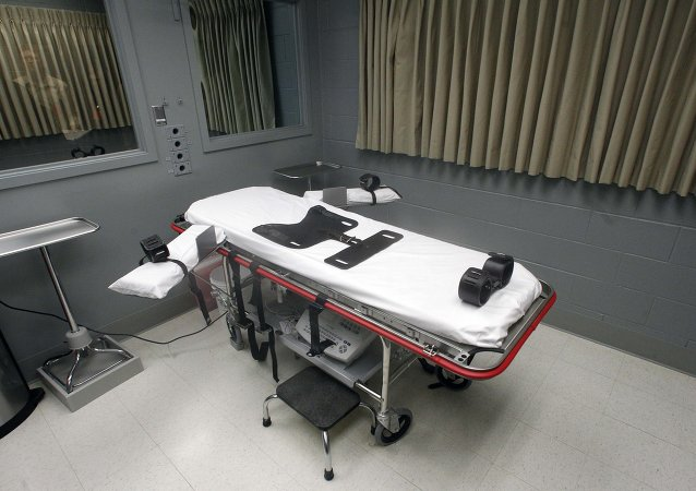The execution room is shown Friday, Nov. 18, 2011, at the Oregon State Penitentiary, in Salem, Ore