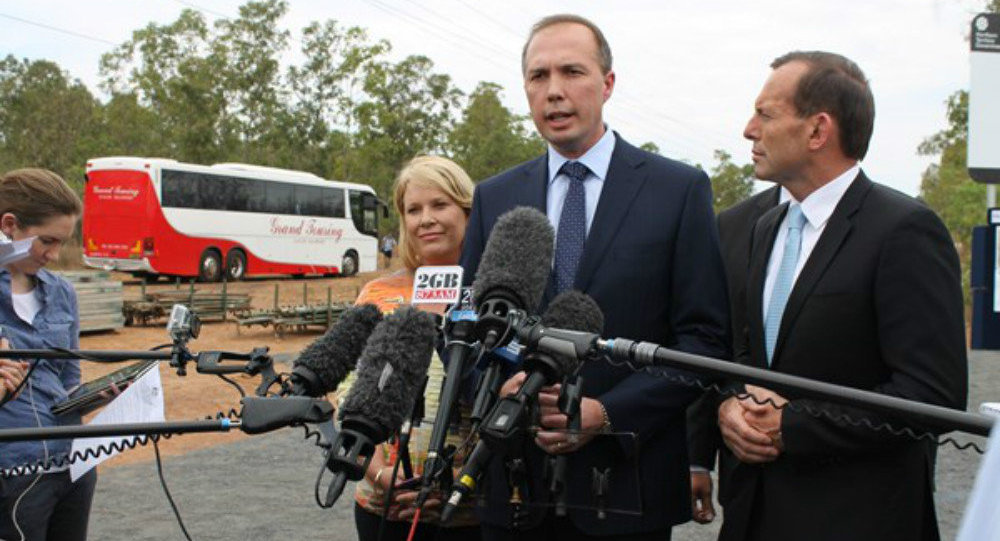 Australia's immigration minister Peter Dutton