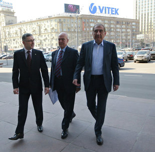 Syrian opposition delegates in Moscow