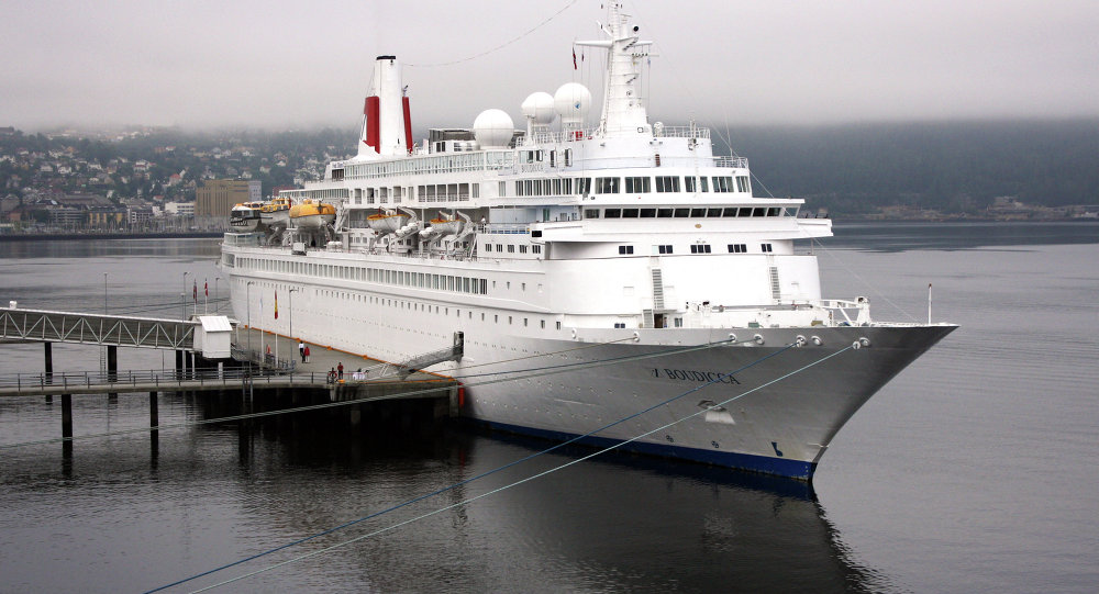 The cruise ship Boudicca is on route to its next destination following an engine fire which terrified passengers.