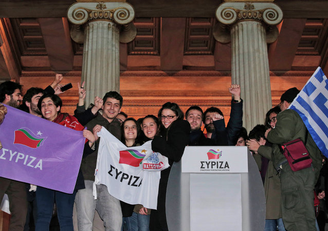 Supporters of Syriza
