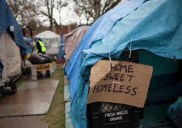 Homeless encampment in Seattle