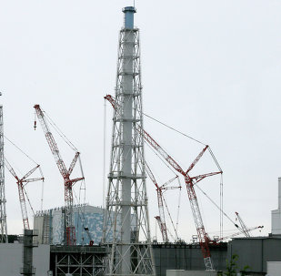 This photo taken on July 9, 2014 shows cranes working et the Unit 3 building next to the Unit 4 at the tsunami-crippled Tokyo Electric Power Co.'s Fukushima Daiichi Nuclear Power Plant in Okuma, Fukushima Prefecture, northeast of Tokyo